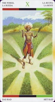 Tarot Afro-américain carte 8